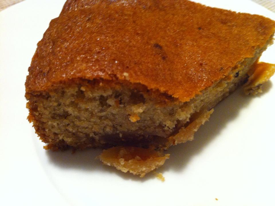 Κέικ με ξερά σύκα και κουβερτούρα