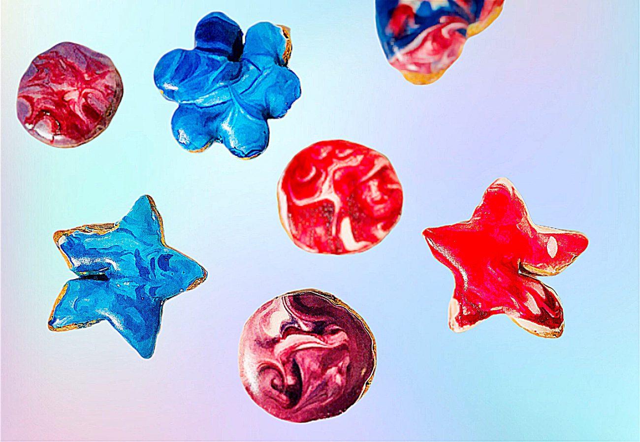 Βίνταζ χρωματιστά μπισκότα