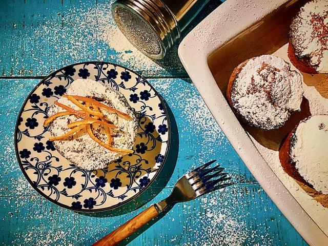 Muffins με σοκολάτα και μανταρίνι