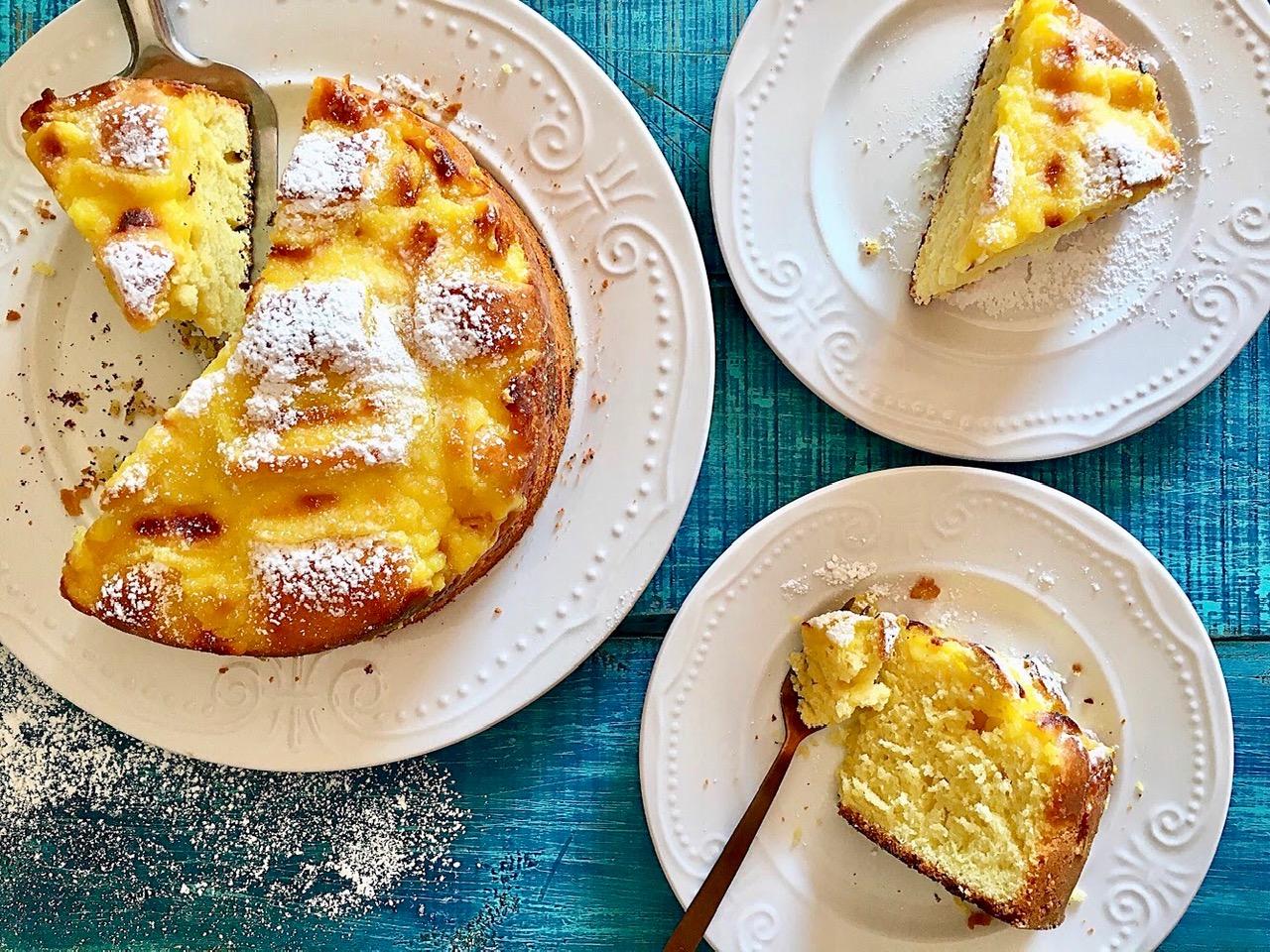 Κέικ με κρέμα βανίλια