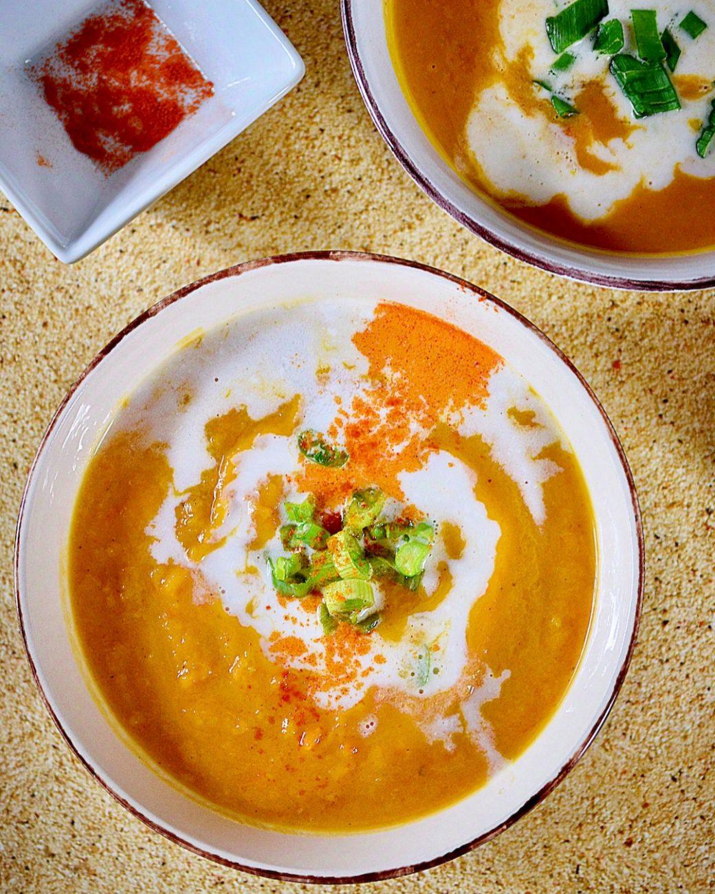 Σούπα βελουτέ γλυκοπατάτας