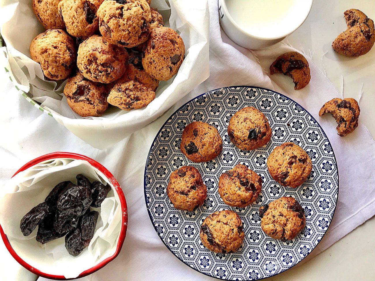 cookies με δαμάσκηνα και σοκολάτα|συνταγή για διαβητικούς