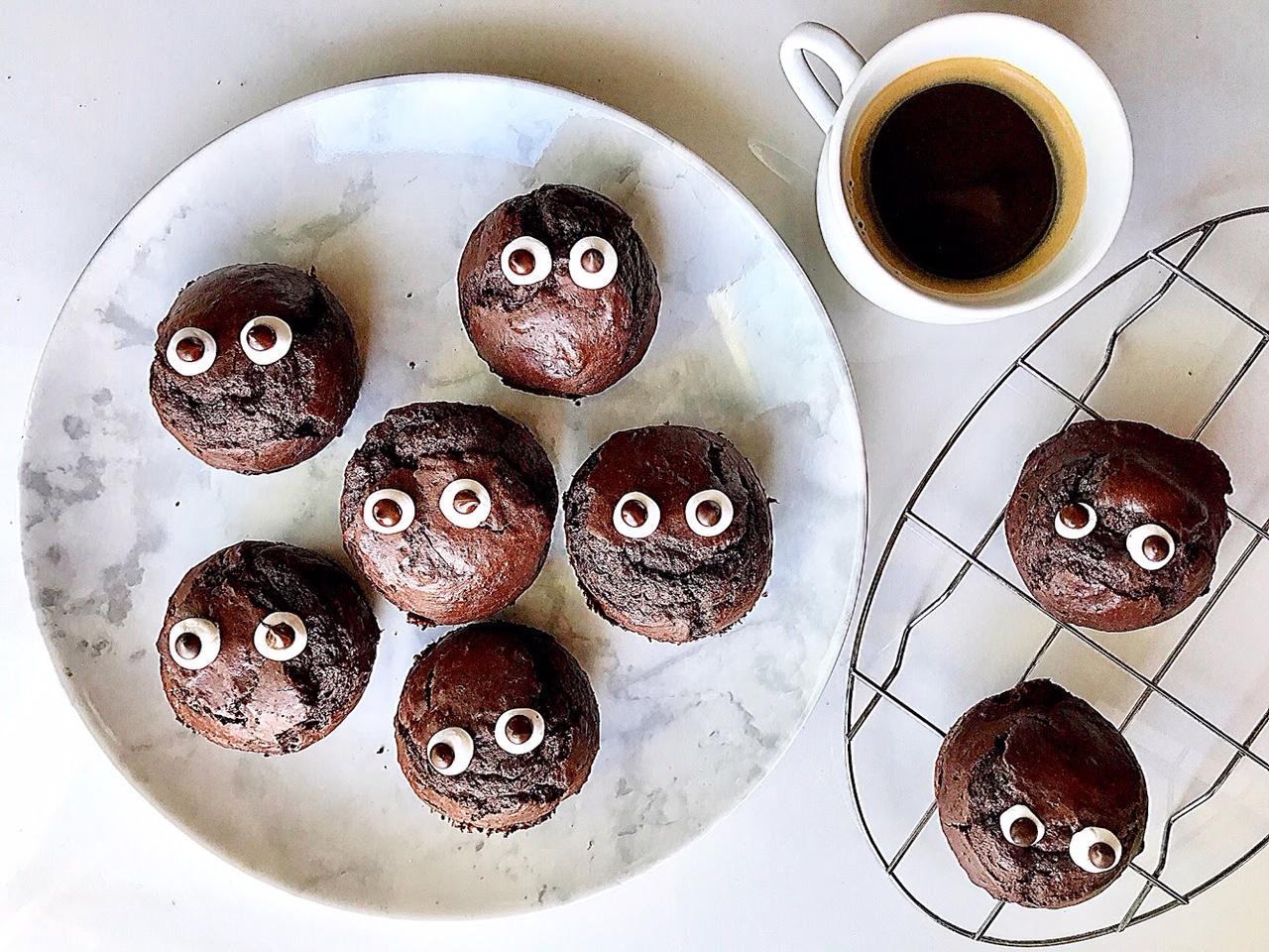Muffins σοκολάτας halloween
