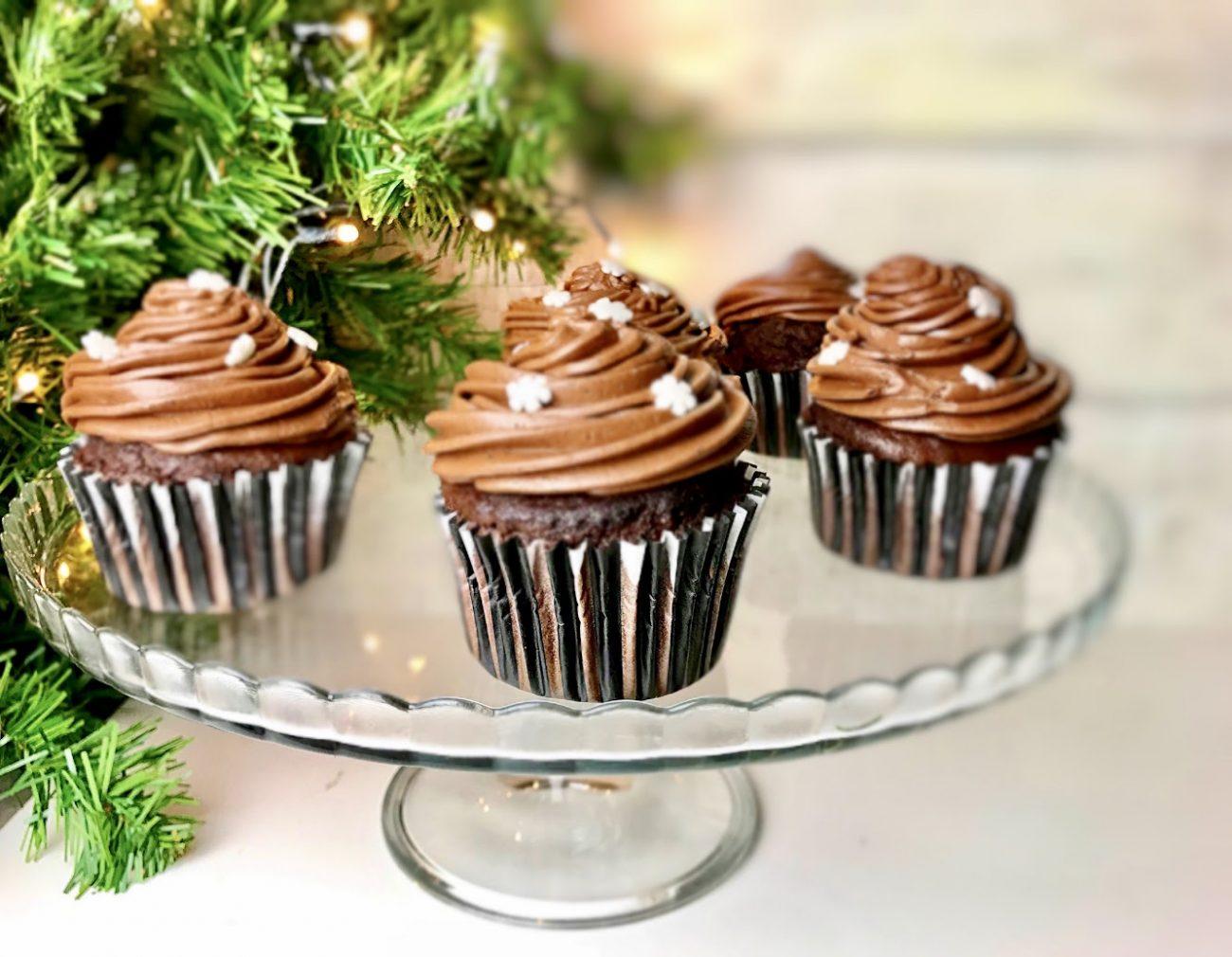 Χριστουγεννιάτικα σοκολατένια muffins