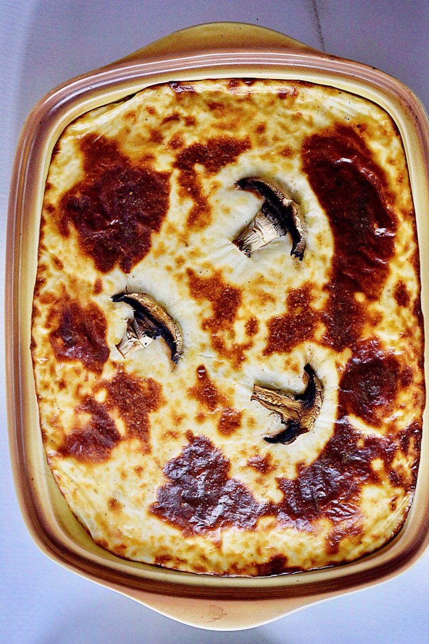 Σουφλέ λαχανικών με ζυμαρικά
