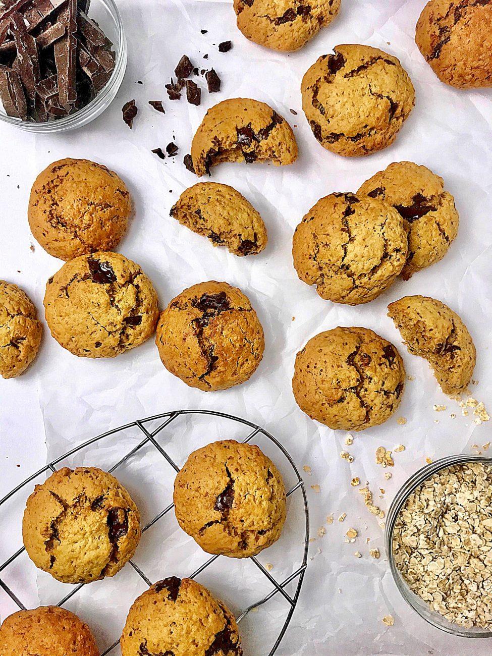 Μπισκότα βρώμης| Χωρίς ζάχαρη με σοκολάτα