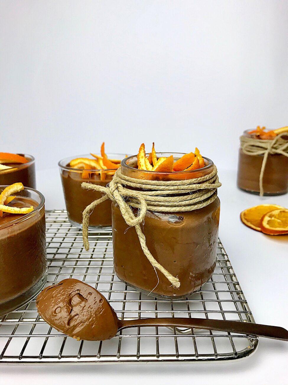 Μους σοκολατας με μέλι και πορτοκάλι