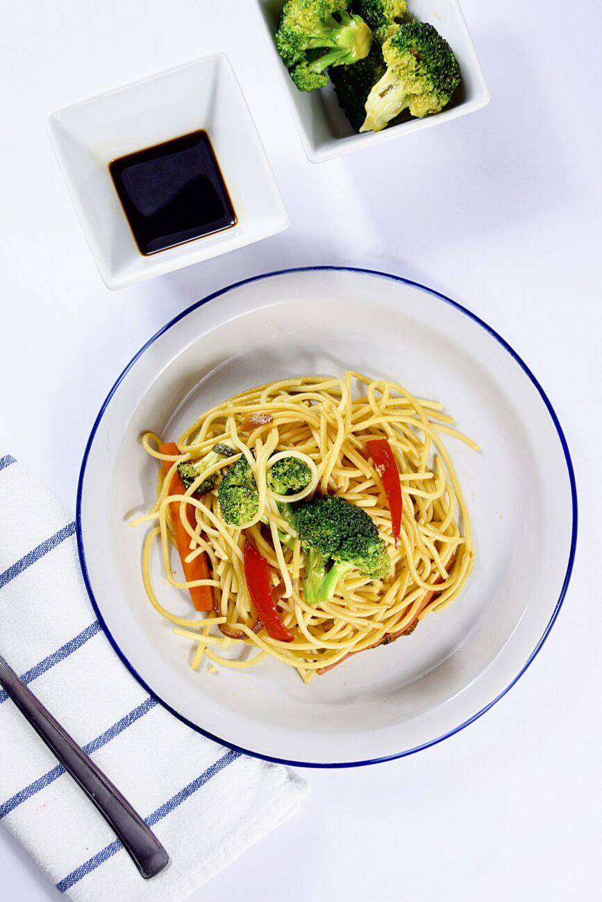 Μακαρόνια με λαχανικά