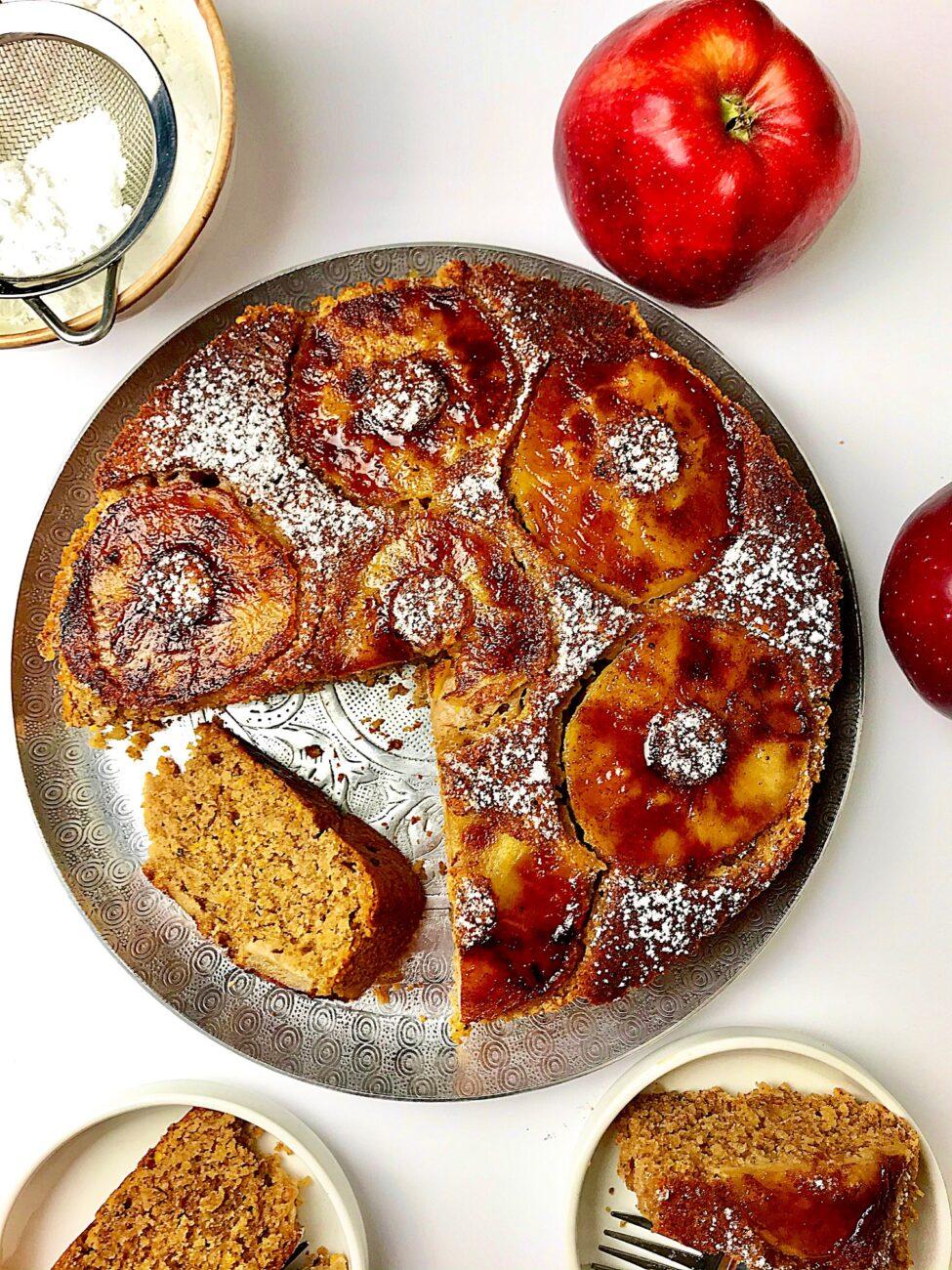 Νηστίσιμο κέικ μήλου| χωρίς ζάχαρη