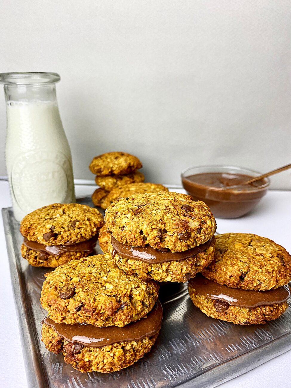 Γεμιστά μπισκότα βρώμης | Χωρίς ζάχαρη